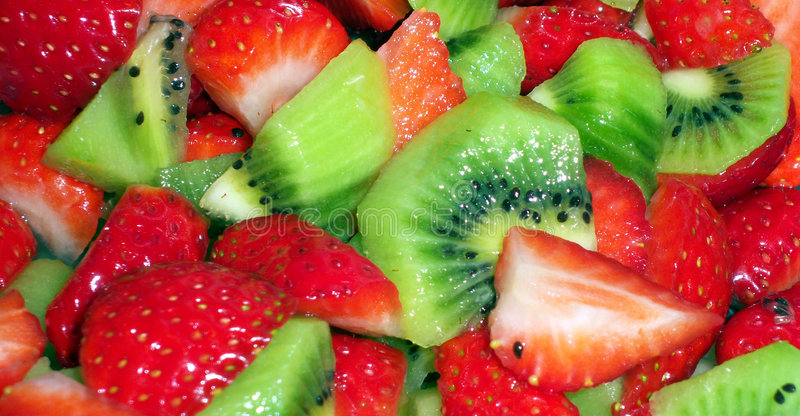 Download Kiwi and strawberry salad stock image. Image of fruit - 4298255