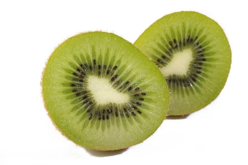 Kiwi su bianco fotografia stock libera da diritti