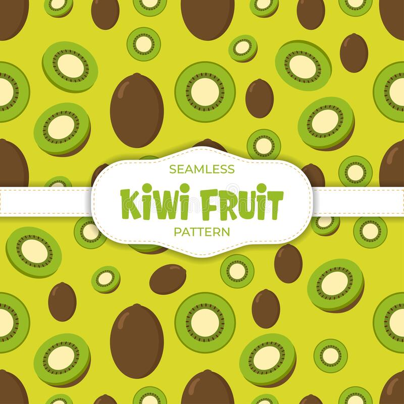 Free Kiwi Summer Tropical Fruits Seamless Background Pattern Background Vector Royalty Free Stock Photos - 207645118