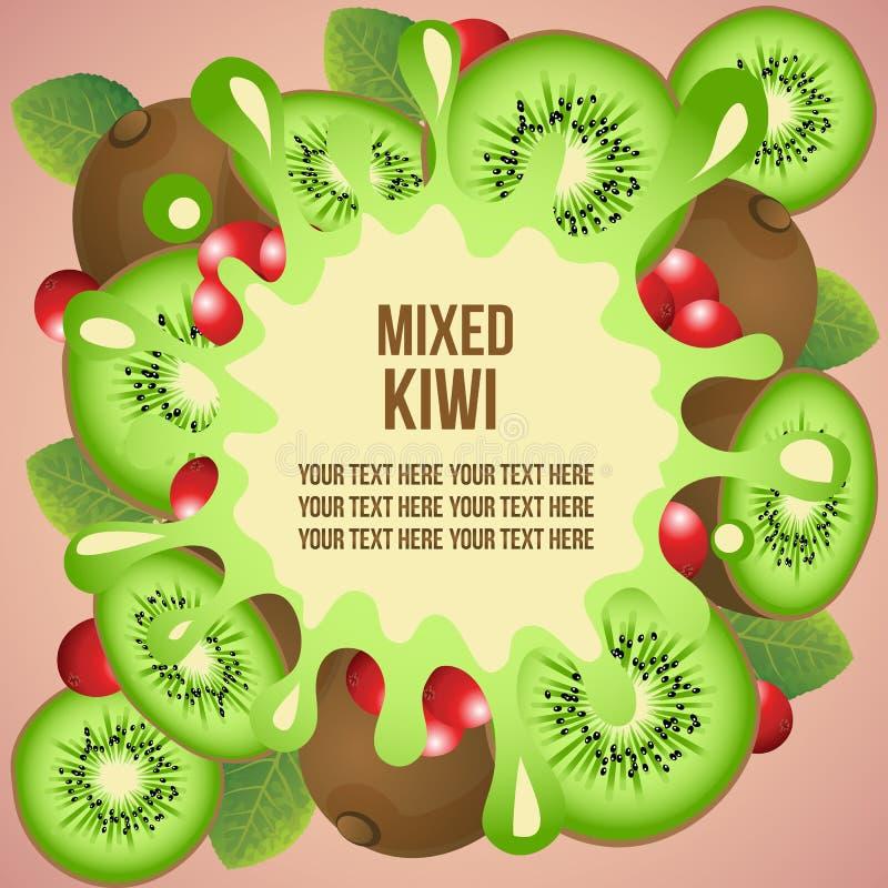 Kiwi szablon ilustracja wektor