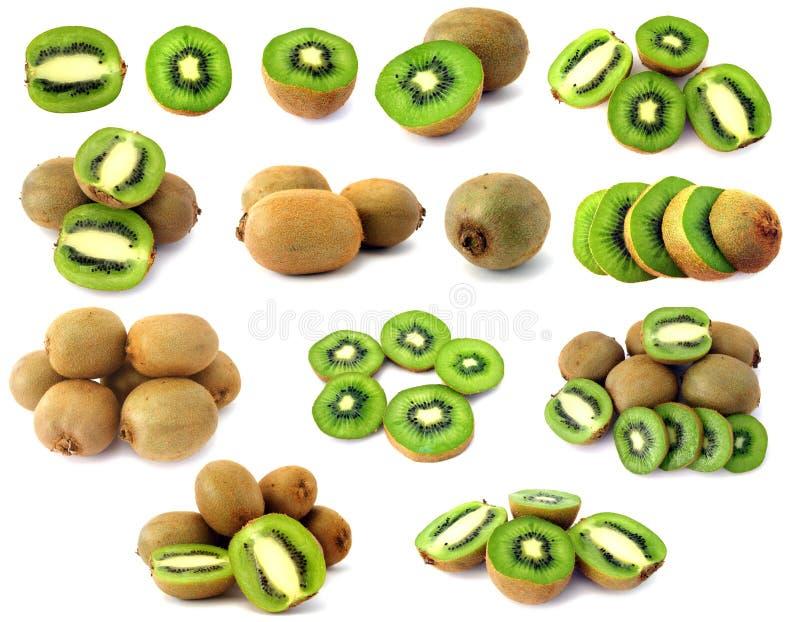 Kiwi verde isolato immagine stock
