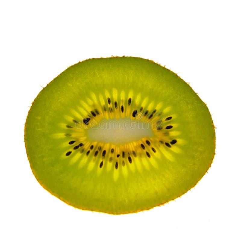 Kiwi vert et d'or frais délicieux d'isolement au CCB blanc image libre de droits
