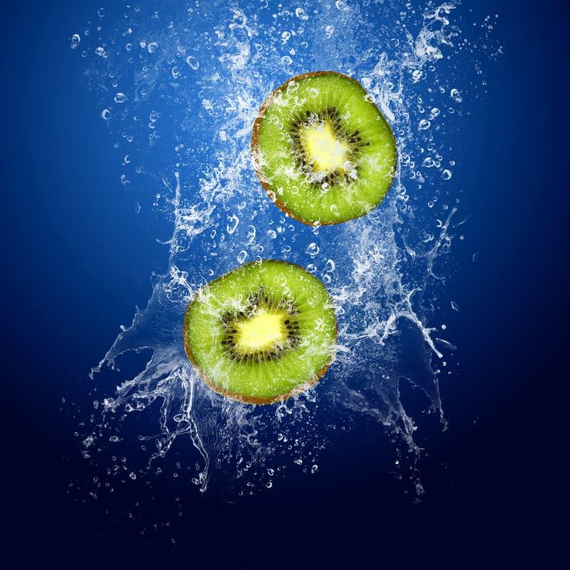 Kiwi in water royalty-vrije stock foto