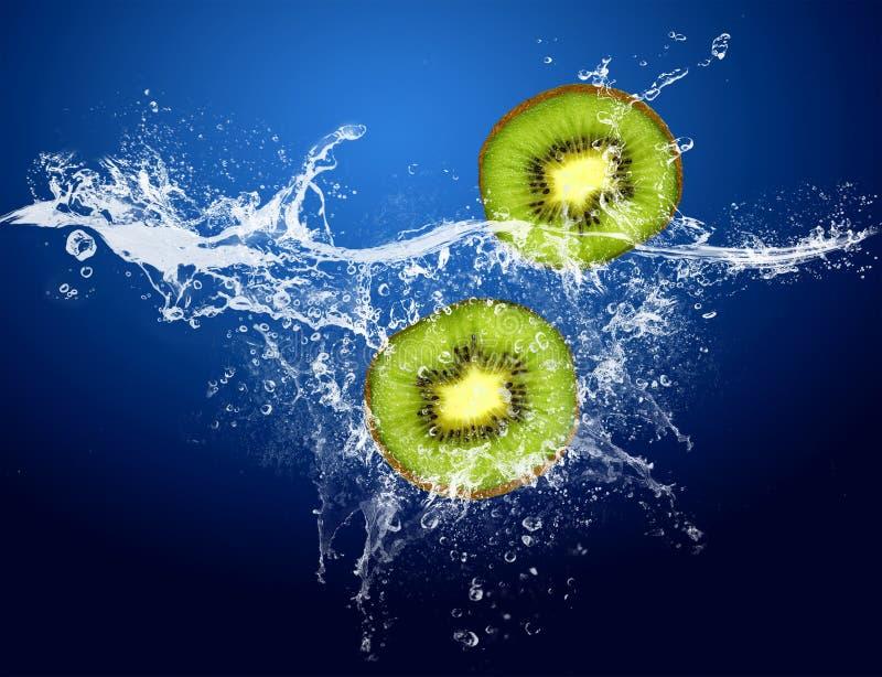 Kiwi in water stock foto's