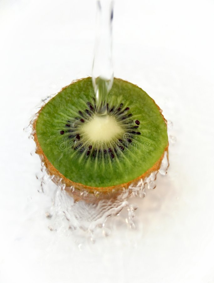 Kiwi Water Splash royalty free stock photos