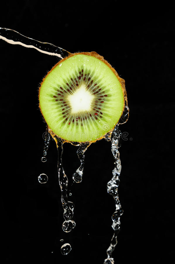 Download Kiwi stock photo. Image of water, fruit, stream, drops - 39500972