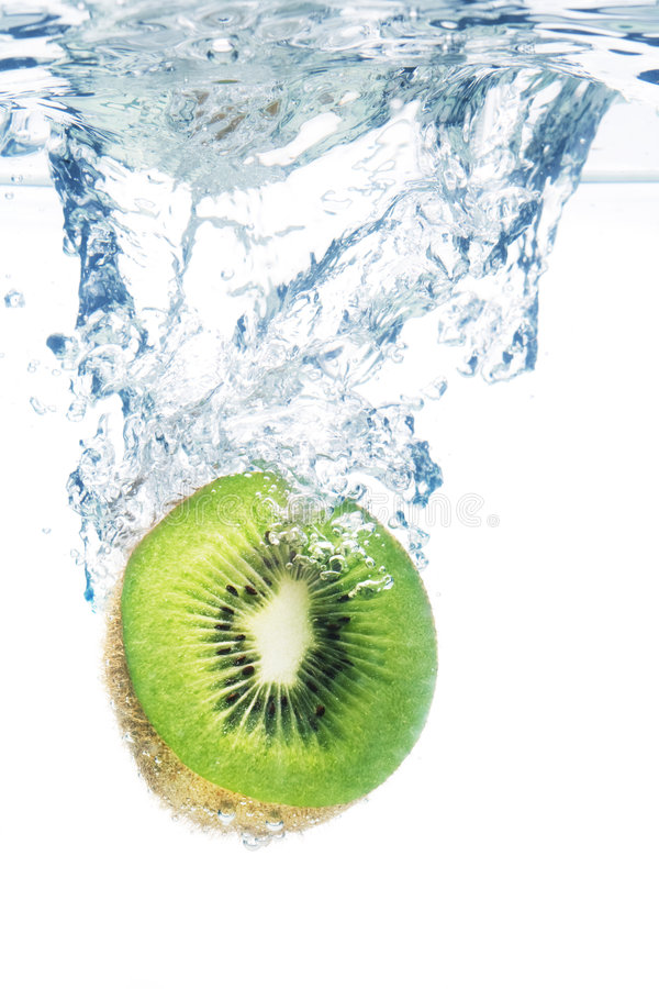 kiwi woda zdjęcia stock