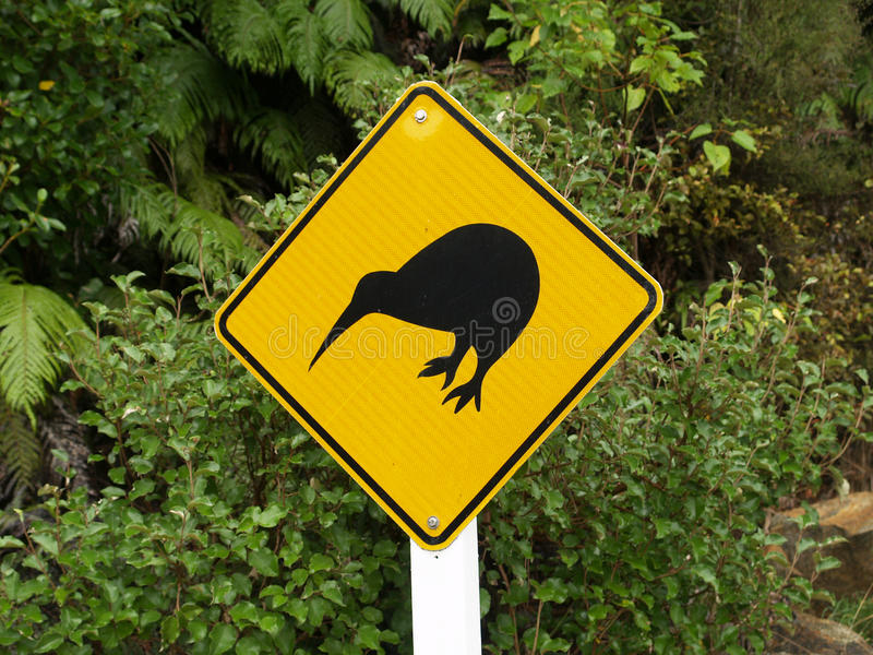 Kiwi znak zdjęcia stock