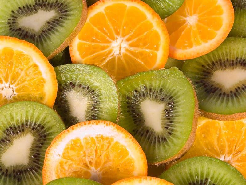 Kiwien En Sinaasappelen Stock Foto
