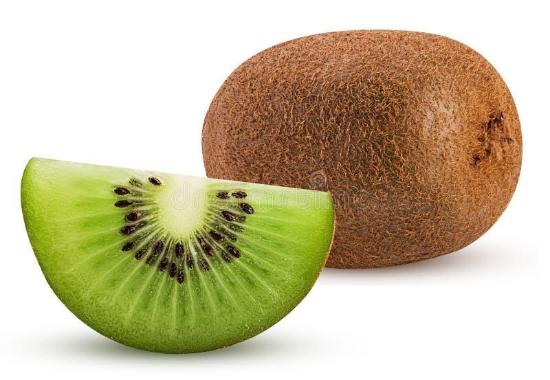 Kiwifruit en plak stock foto's