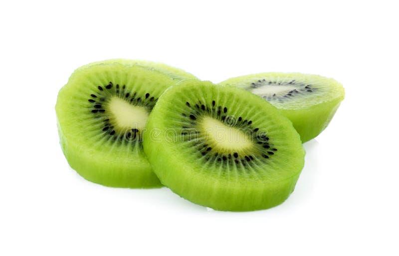 Kiwifruit op witte achtergrond, macro wordt geïsoleerd die royalty-vrije stock fotografie
