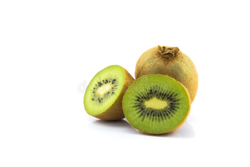 kiwifruit op witte grond stock fotografie
