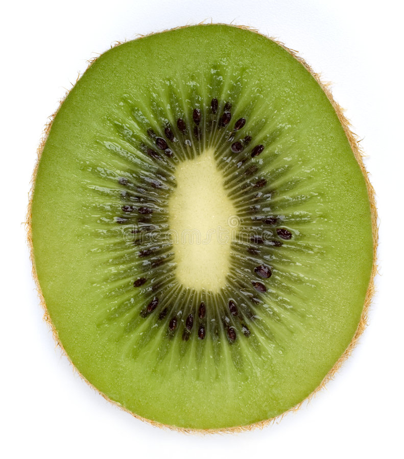 Kiwifruit slice stock photo