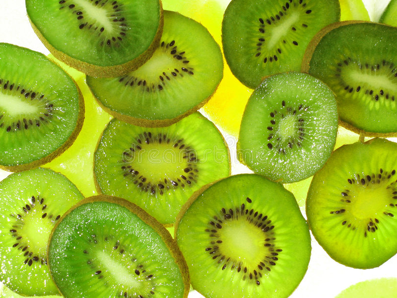 Kiwis on ice royalty free stock photos