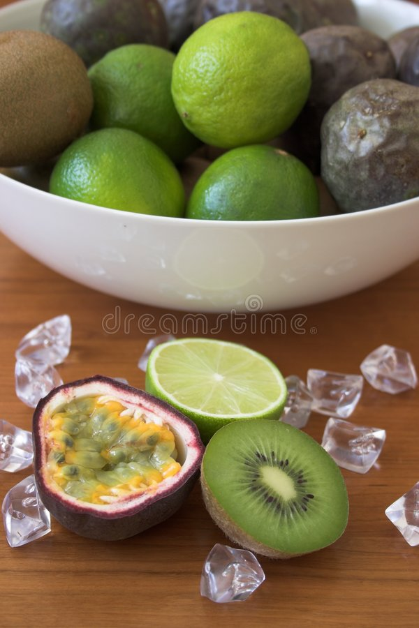 Free Kiwis, Limes & Passion Fruits Stock Photography - 144662