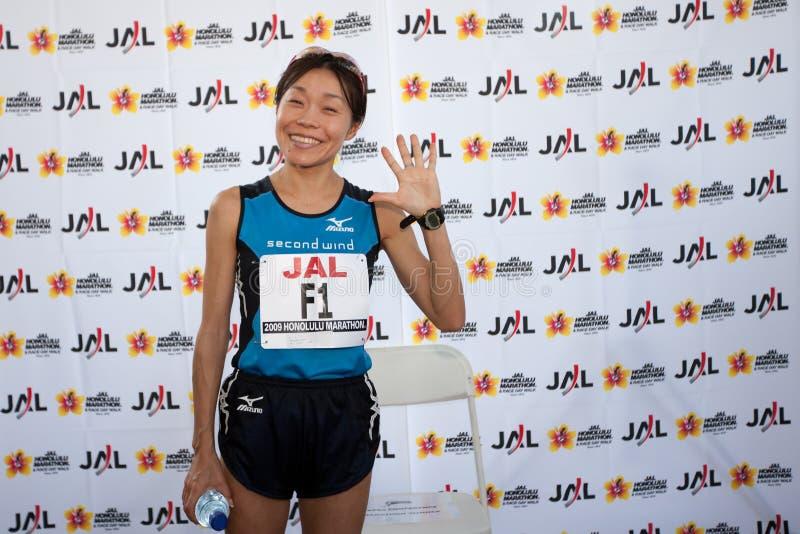 Download Kiyoko Shimahara At Honolulu Marathon Press Confer Editorial Stock Image - Image: 12185539