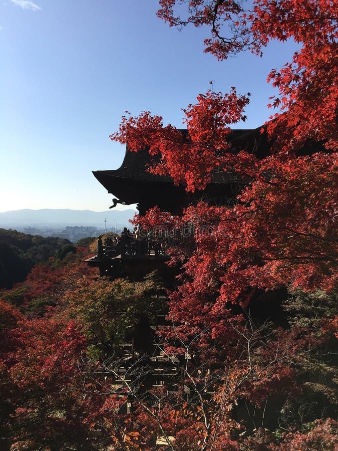 Kiyomisu-dera, висок в Киото стоковые фото