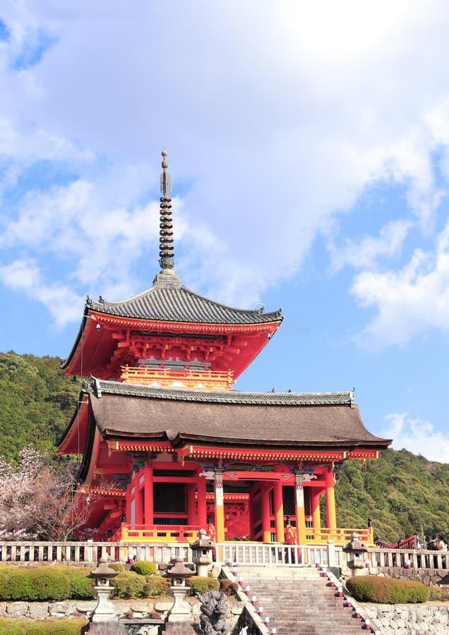 Висок Kiyomizu-dera в Киото, Японии стоковое фото