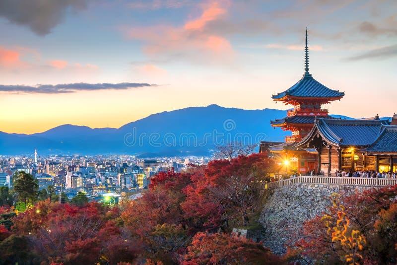 Kiyomizu-dera jesieni Świątynny sezon w Kyoto, Japonia obraz royalty free