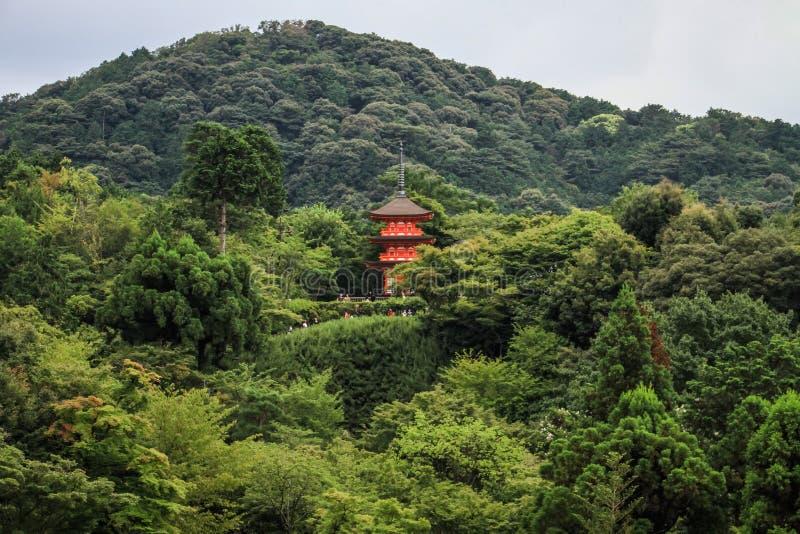 Kiyomizu-Dera, officieel otowa-San kiyomizu-Dera, Higashiyama -higashiyama-ku, Kyoto, kansai, Japan stock foto's