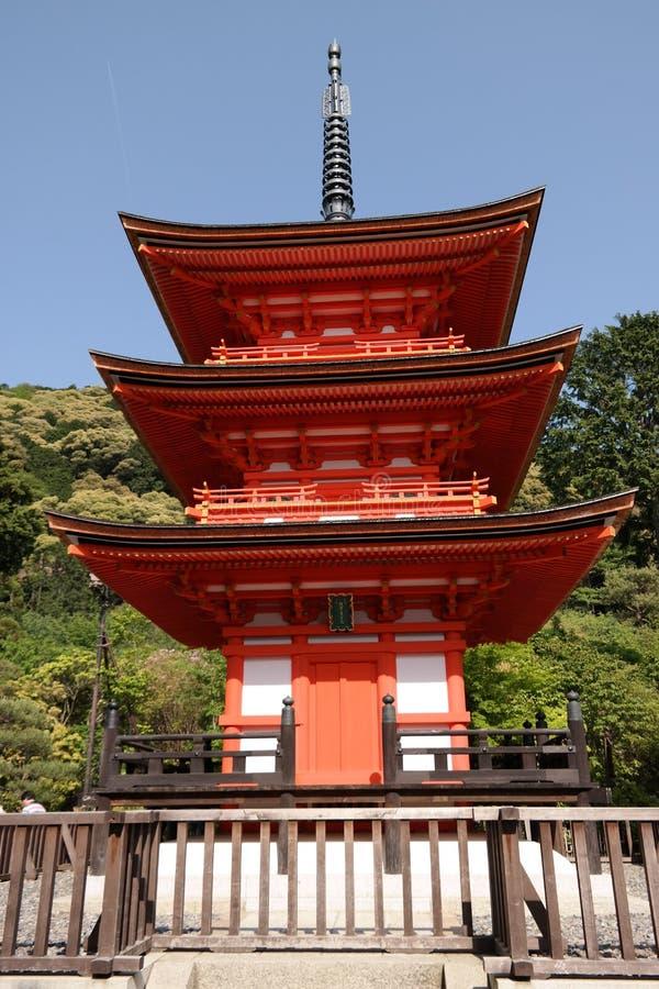 Kiyomizu-dera Tempel stockfotos