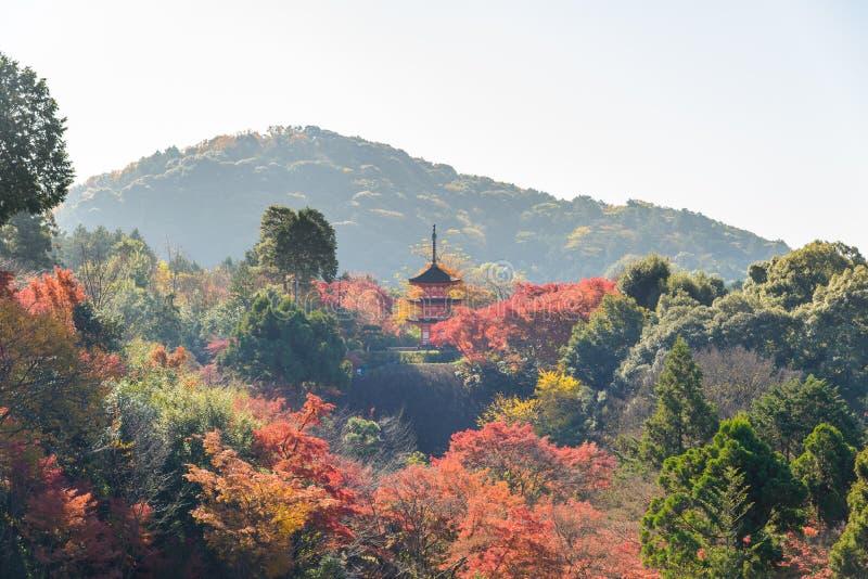 Kiyomizu-dera temple in autum season at Kyoto. Japan stock photos