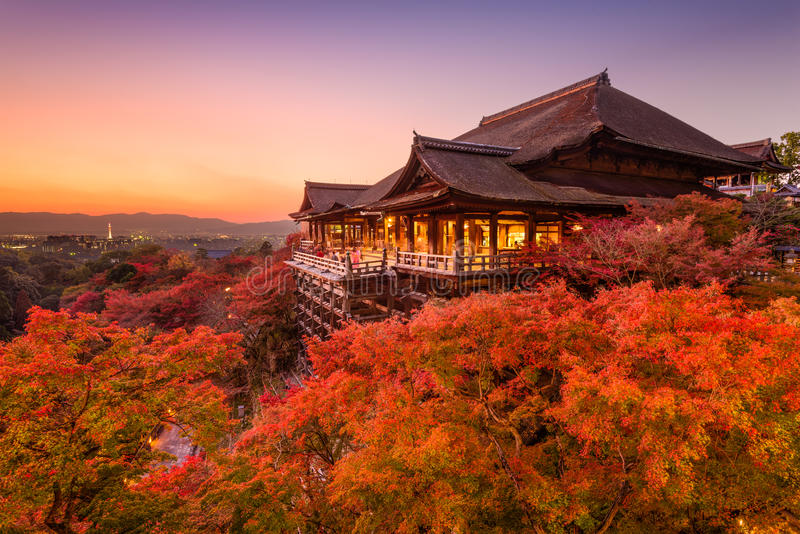 Kiyomizu-dera Temple in Japan stock photo
