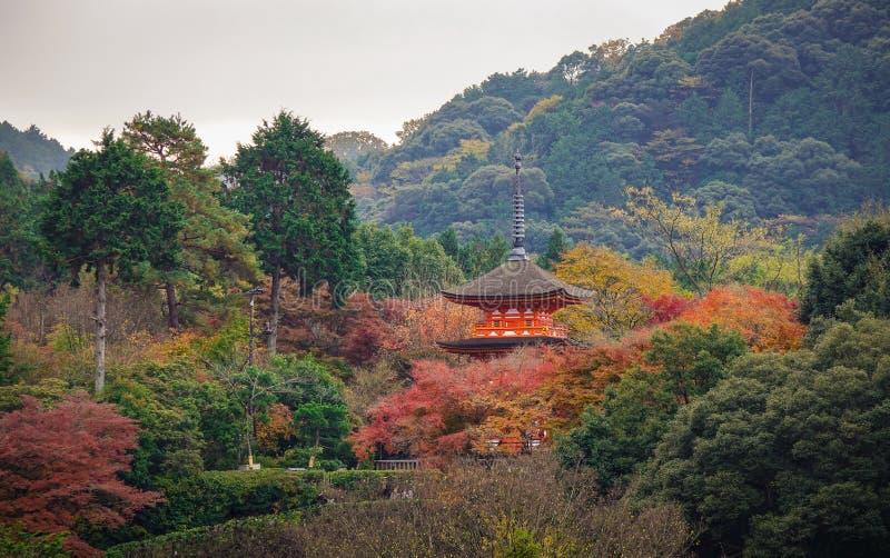 Kiyomizu-deraschrein in Kyoto, Japan stockfotos