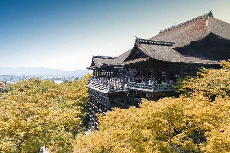Kiyomizu-deratempel, berühmter buddhistischer Tempel in Kyoto, Japan lizenzfreies stockbild