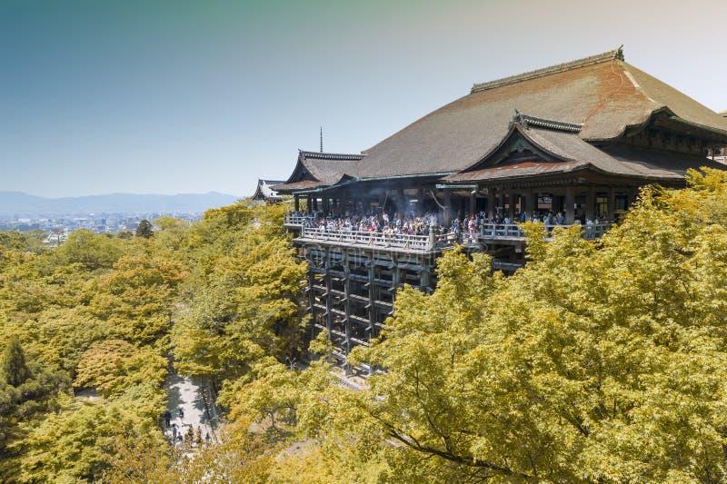Kiyomizu-deratempel, berühmter buddhistischer Tempel in Kyoto, Japan stockfotos