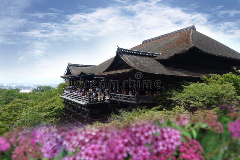 Kiyomizu-deratempel in der Sommersaison, Kyoto, Japan stockbild