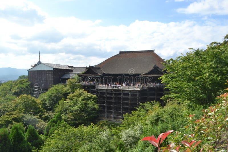 Kiyomizu-deratempel Kyoto Japan lizenzfreie stockfotografie