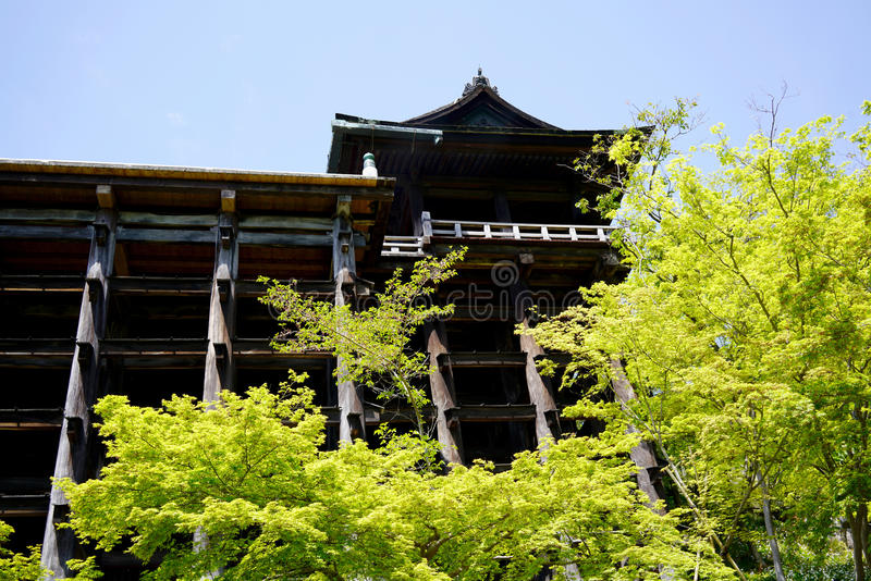 Kiyomizu-Deratempel in Kyoto Japan stock afbeeldingen