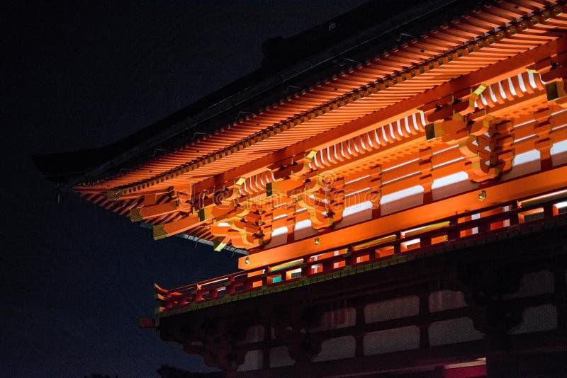 Kiyomizu tempel royaltyfria bilder