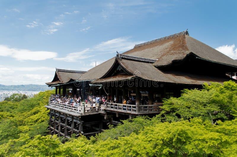 Kiyomizudera寺庙 免版税库存图片