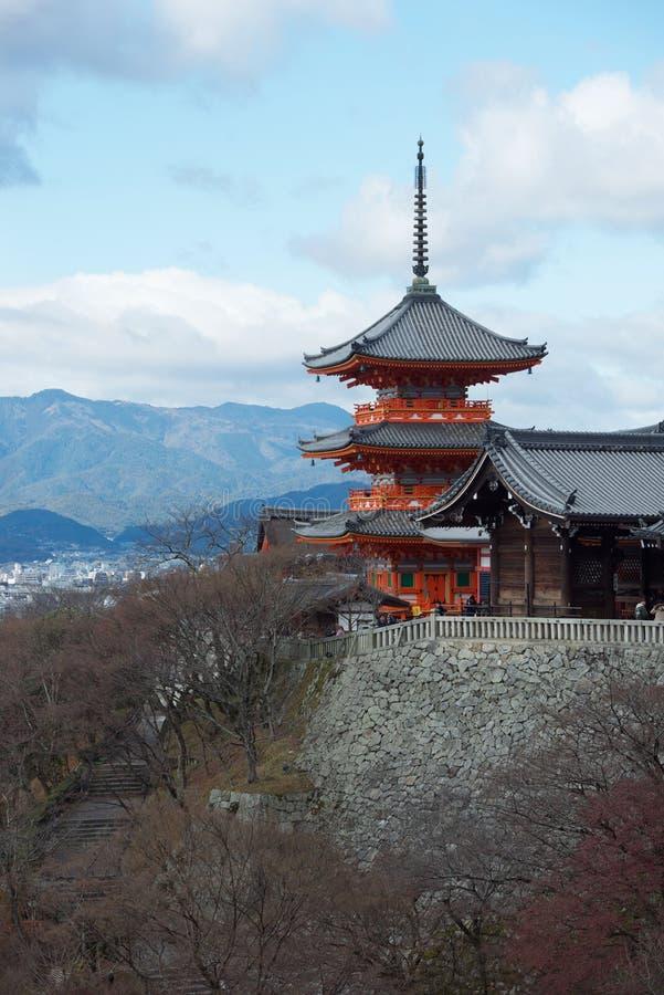 Kiyomizudera的,京都塔 免版税库存照片