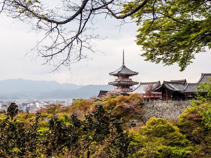 Kiyomizudera-Tempel stockfoto