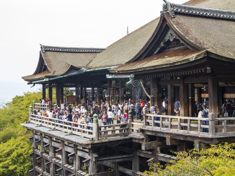Kiyomizudera-Tempel, Kyoto lizenzfreies stockbild