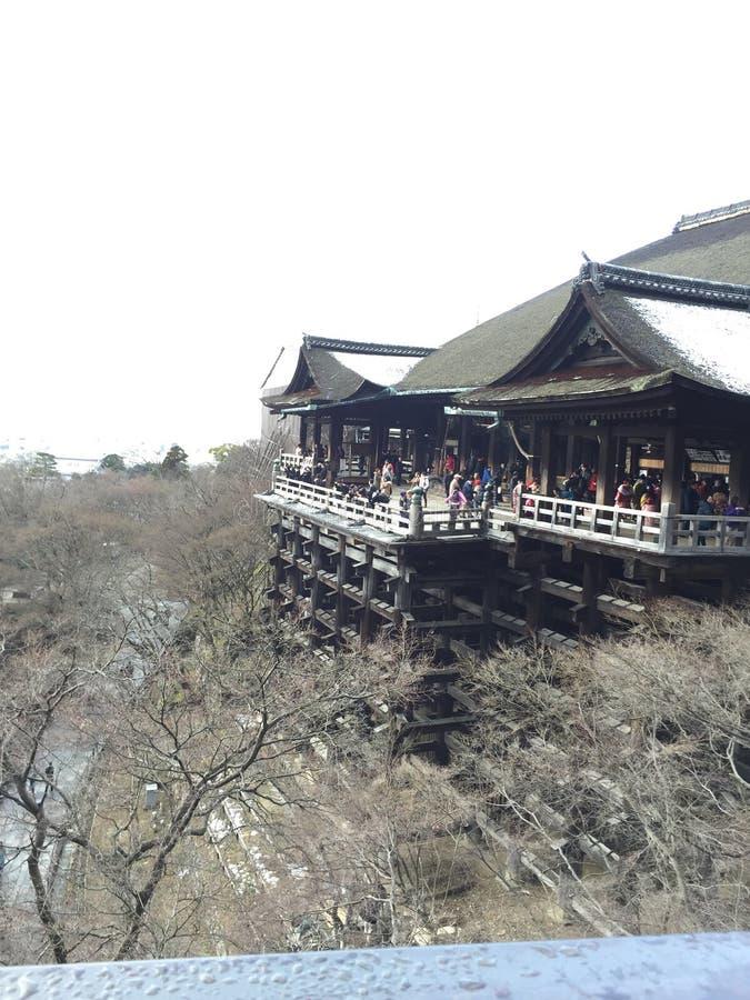 Kiyomizuderatempel royalty-vrije stock afbeelding
