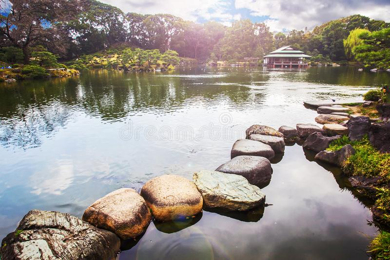 Kiyosumi Teien trädgård royaltyfri bild