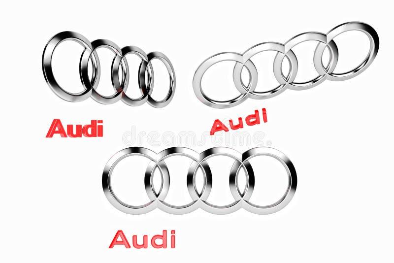 Kiyv, Ucrânia - 5 de fevereiro de 2019: Logotipo do carro Audi ilustração royalty free