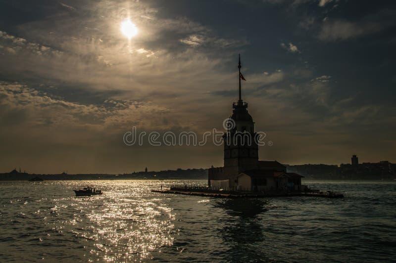 Kiz Kulesi - The Maiden`s Tower. Kiz Kulesi, also known as the Maiden`s tower, or the Leander`s tower is a famous landmark of Istanbul royalty free stock photos
