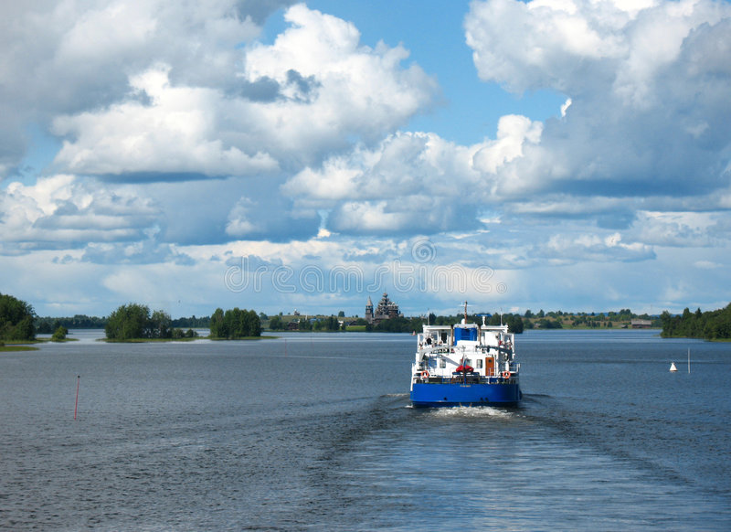 Kizhi. Arcipelago dell'Onega fotografie stock