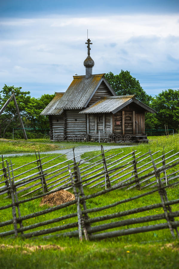 Kizhi Island, Russia. Ancient wooden religious architecture royalty free stock photo