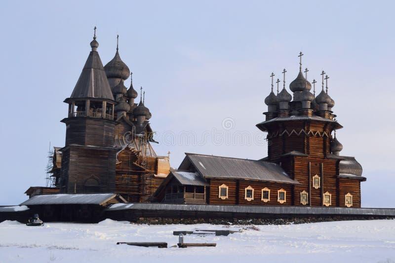 Kizhi Pogost op Kizhi-eiland in Rusland Karelië stock afbeeldingen