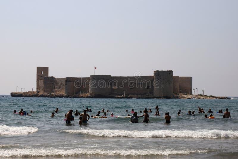 Kizkalesi, nahe Mersin, die Türkei lizenzfreie stockfotos