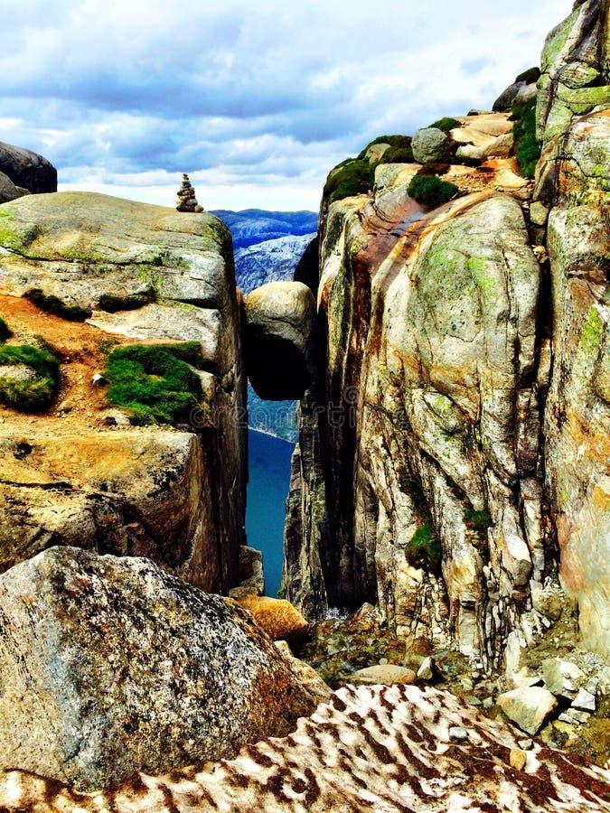Kjæragbolten West Coast Norway royalty free stock photo