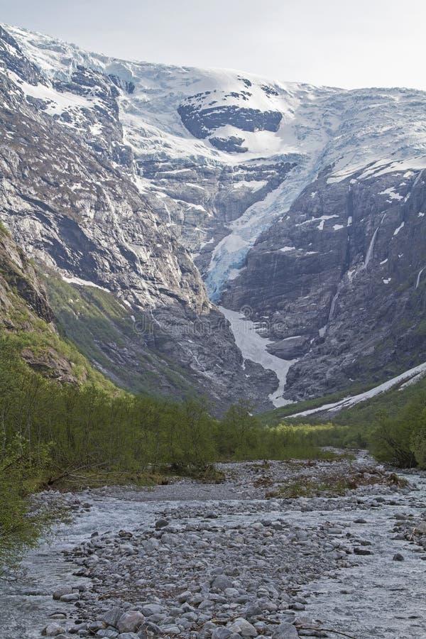 Kjenndalsbreen in Norwegen stockbilder
