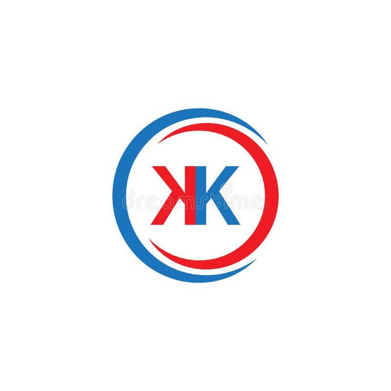 KK Company Logo Vector Template Design Illustration royalty illustrazione gratis