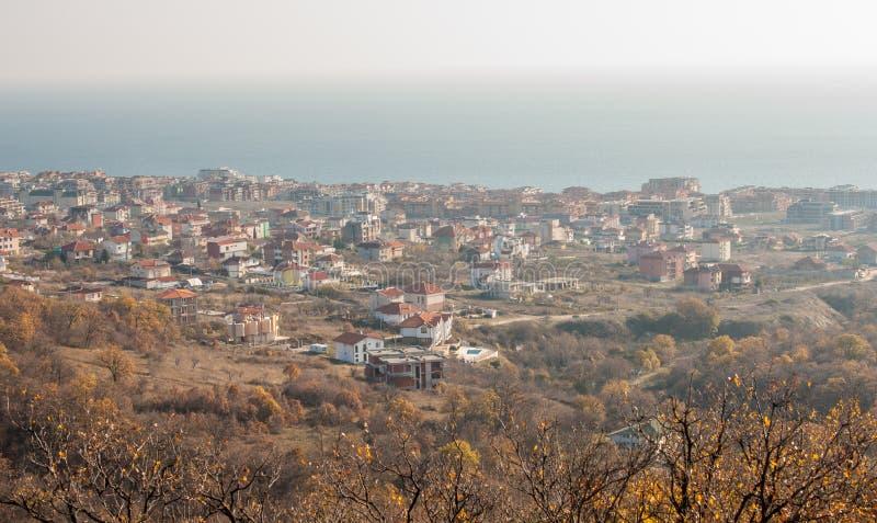 KK Saint Vlas in Bulgaria, winter stock images